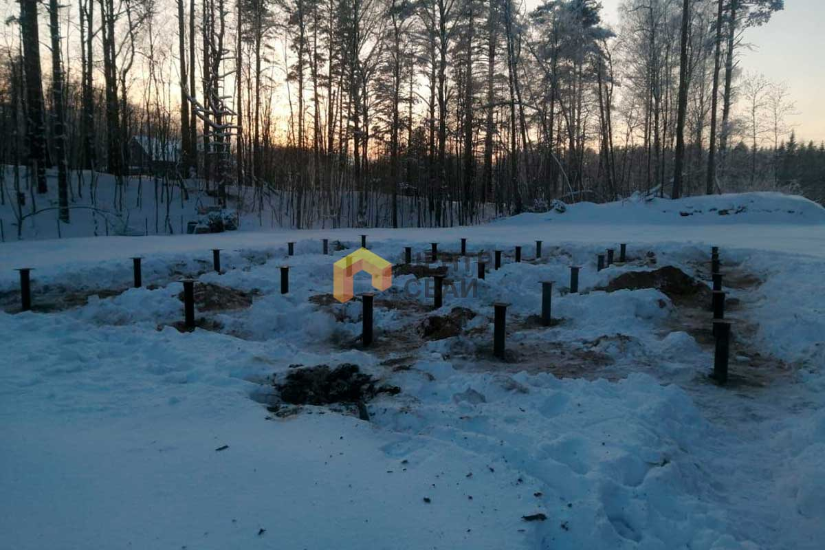 Монтаж свайно-винтового фундамента в Новом Тосково